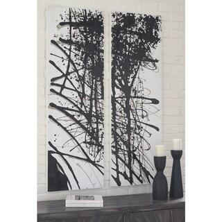 Jace Black/White Splatter Wall Art - Set of 2