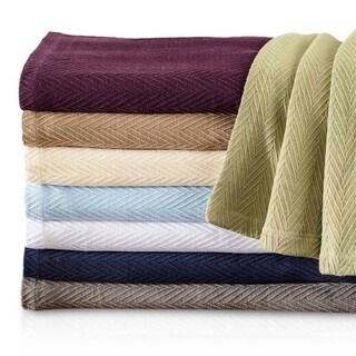 Copper Grove Vatutine Woven Cotton Throw Blanket with Metro Pattern