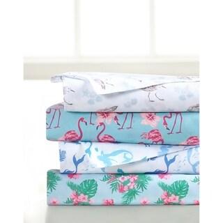 Porch & Den Halladay Coastal Pattern 4-piece Bed Sheet Set