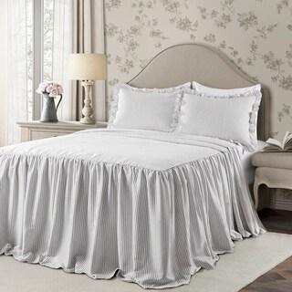 The Gray Barn Lazy Acres Ticking Stripe Bedspread Set