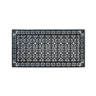 """Rubber Paisley Hand Finished Extra Large Size Double Doormat 60"""" X 30"""""""