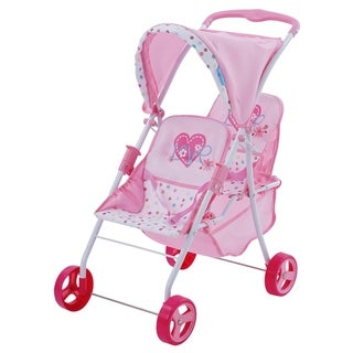 Hauck Love Heart Pretend Play Twin Baby Dolls Stroller