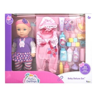 Little Darlings Toy Baby Doll Deluxe Play Set