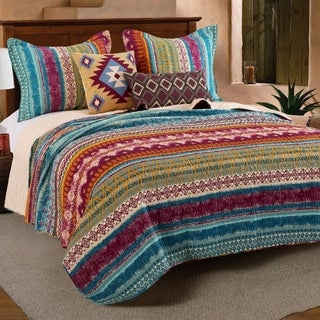 Greenland Home Fashions Southwest Bonus Quilt Set with Pillows