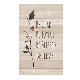 Be Glad Be Joyful Be Blessed Believe Pallet Décor