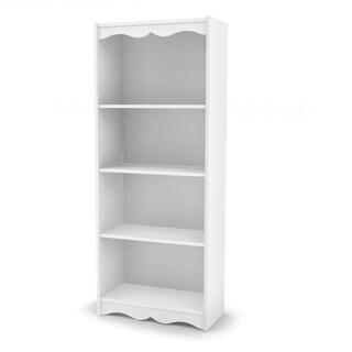 Porch & Den Alma Frost White 60-inch Bookcase