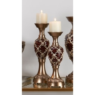 14 in, 16 in Curvae Stencils Candleholder Set of 2
