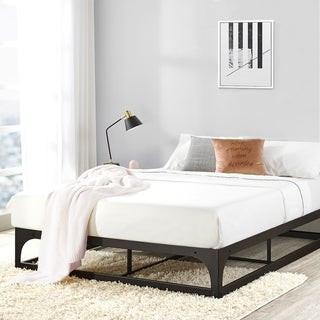 Porch & Den McCamant 12-inch Metal Platform Bed Frame with Hinged Corner