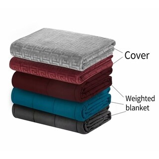 MerryLife Weighted Blanket with Duvet Cover Removable Glass Beads
