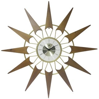 Nova Starburst Mid-Century Modern 31 inch Large Wall Clock by Infinity Instruments