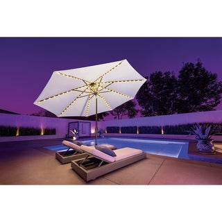 SimplyShade Lanai Pro 9' Octagon Auto Tilt Umbrella with Starlights