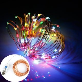 100 LED String Lights 33ft USB Plug in 8 Modes Copper Wire Lights Remote Control Timer Dimmable Decoration Lights Bedroom Patio