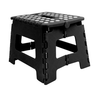 Small Plastic Folding Stool with Non-Slip Dots