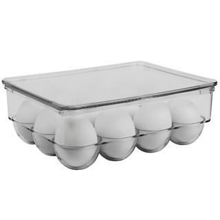 12 Egg Plastic Holder with Lid, Plastic