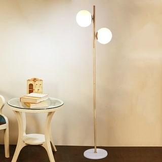 Miljo Antique Gold 2-light Floor Lamp