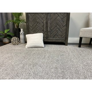 Porch & Den Carrollon Ashen Grey Bound Edge Area Rug