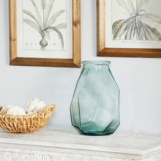 Porch & Den Tarrybrooke Angular Textured Small Decorative Glass Vase