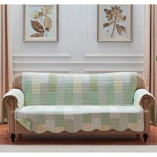 Porch & Den Lebanon Sage Reversible Sofa Couch Protector