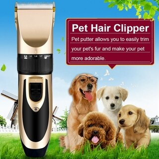 Professional Low-Noise Grooming Kit Cat Dog Hair Trimmer Electric Pet Hair Clipper Shaver Set Haircut Machine USB Charging US