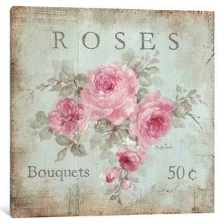 """iCanvas """"Rose Bouquets (50 Cents)"""" by Debi Coules"""