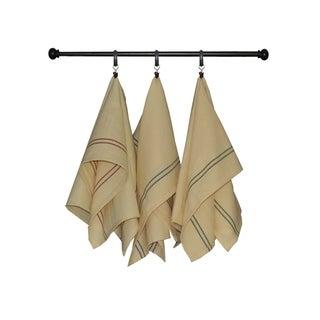 Dunroven House Thin Vintage Stripe Kitchen Towel Set of 3