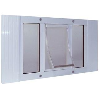 "Ideal Pet Products Aluminum Sash Pet Door Extra Large White 1.75"" x 27"" x 20.63"""