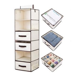 StorageWorks 3-Drawer, 6-Shelf Hanging Fabric Organizer