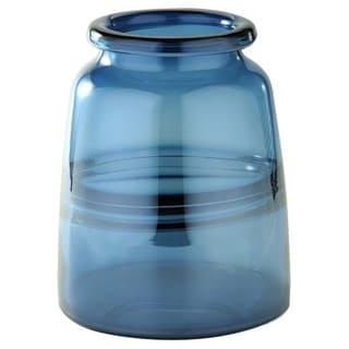 Porch & Den Martinazzi Steel Blue Medium Bottle Vase