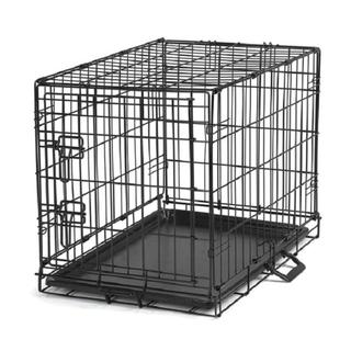 Black Metal Pet Crate