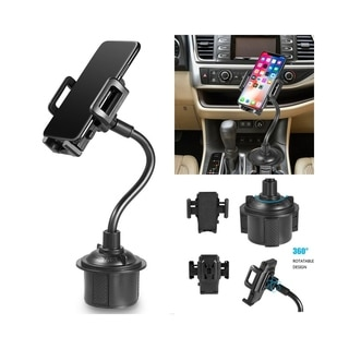 "Insten Universal Cup Holder Car Mount with Long Adjustable Arm and Rotatable Cradle - Quick Release Button - 11"" Tall"