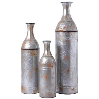 The Gray Barn Rustic Farmhouse Style Galvanized Metal Floor Vase Decoration