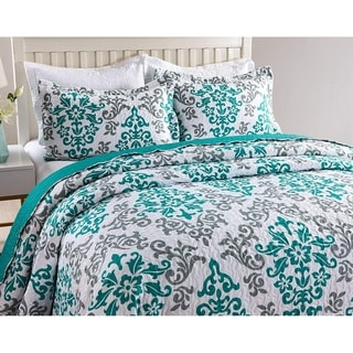 MarCielo 3 Piece Quilted Bedspread Printed Quilt Quilt Set Bedding Throw Blanket Coverlet Oversize Lightweight Bedspread Katrina