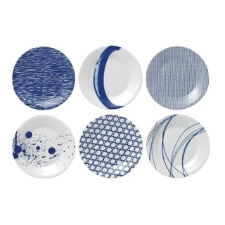 Pacific Mixed Patterns 6-piece Tapas Plates