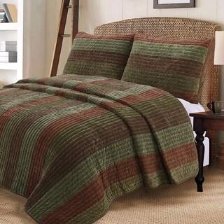 Cozy Line Rhett Brown Reversible Quilt Set