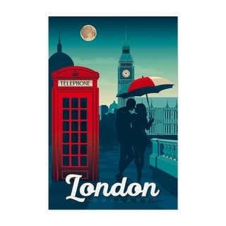 Noir Gallery Retro London Travel Print Unframed Art Print/Poster