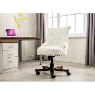 Porthos Home Deja Swivel Office Chair, Fabric Upholstery, Stud Accents
