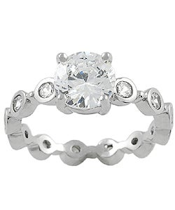 Tressa Sterling Silver Circle CZ Ring
