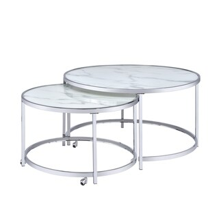 Realm Round 2 Piece Nesting Coffee Table by Greyson Living