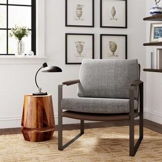 Finch Everett Metal Frame Accent Chair, Gray