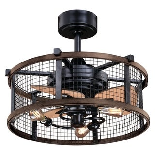Carbon Loft Montrese Oil Rubbed Bronze/Teak 21-inch Ceiling Fan - 21-in W x 17-in H x 21-in D