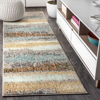 "JONATHAN Y Contemporary POP Modern Abstract Vintage Cream/Yellow 2 ft. x 8 ft. Runner Rug - 2'3"" X 8'"
