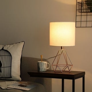 CO-Z 18-Inch Modern Table Lamp with Hollowed Out Base for Living Room Bedroom