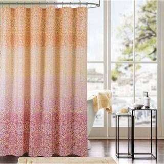 Porch & Den Damask Pattern Hook and Shower Curtain Set