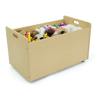Humble Crew Toy Box with Wheels, Natural