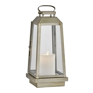 Edgewater 1-light Champagne Silver Outdoor LED Table Lantern