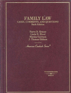 Family Law, Cases, Comments and Questions (Hardcover)
