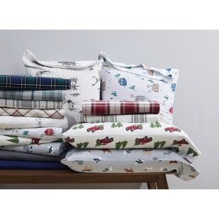 London Fog Cotton Flannel Bed Sheet Sets