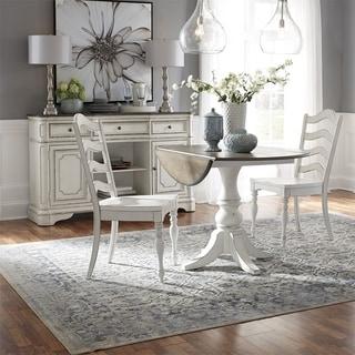 Magnolia Manor Antique White 3-piece Drop Leaf Table Set