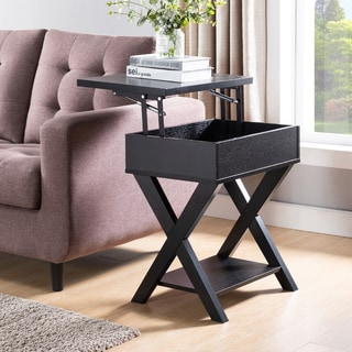 The Gray Barn Tristan Grange Rustic Lift-top End Table