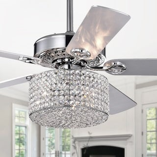 Rexen Chrome 52-Inch 5-Blade Lighted Ceiling Fan - 52-inches Diameter